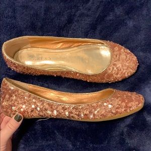 Bakers Pink sequin Flats. Size 6.5
